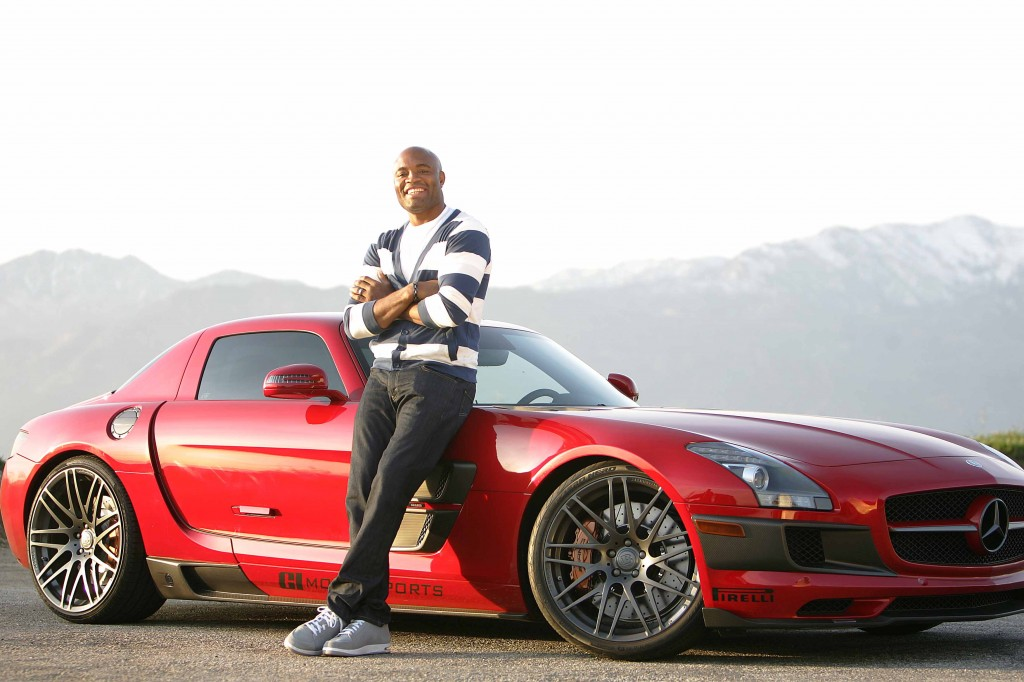 anderson silva and mercedes sls